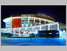 """Арена Дворца спорта  """"Мегаспорт """", восхищает своим праздничным видом.  Необыкновенный, парящий потолок, словно огромная..."""